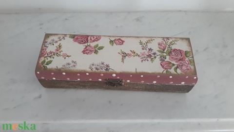 Rózsás tolltartó/ szemüvegtartó/ékszertartó a vintage jegyében (vintageajandek) - Meska.hu