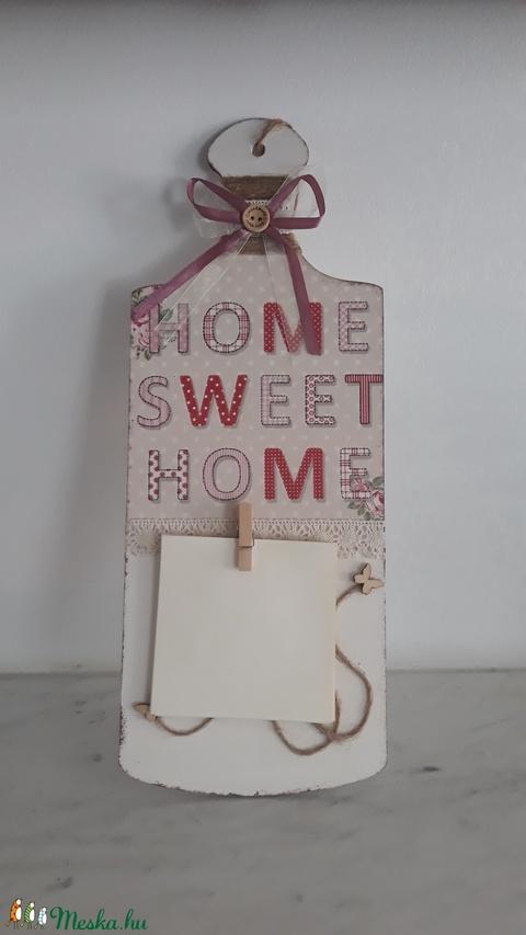 Home Sweet Home üzenő tábla