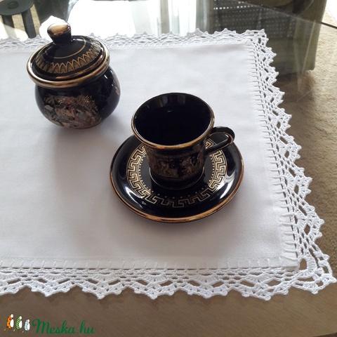 Fehér asztalterítő/futó horgolt szegéllyel (Viola14) - Meska.hu