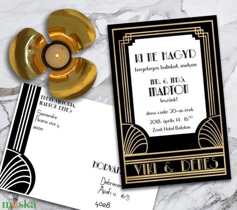 Esküvői meghívó Nagy Gatsby - Meska.hu