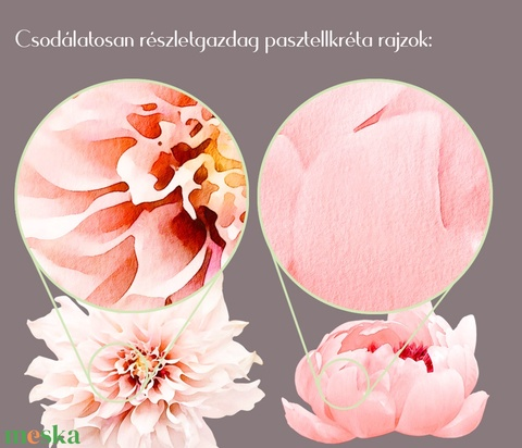 Esküvői meghívó tavaszi virágok (viori) - Meska.hu