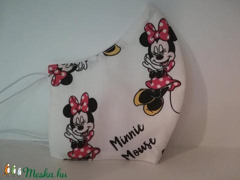 Minnie mause.....szájmaszk, arcmaszk fehérben  (VODIKA) - Meska.hu