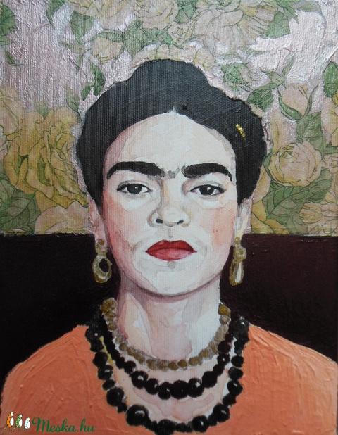 Frida Kahlo portré (watercolorbyvera) - Meska.hu
