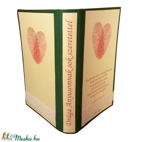 Személyre szabott borítók hajtogatott könyvszobrokhoz-Névnapra-Születésnapra-Évfordulóra-Ajándékba (Wolfabric) - Meska.hu
