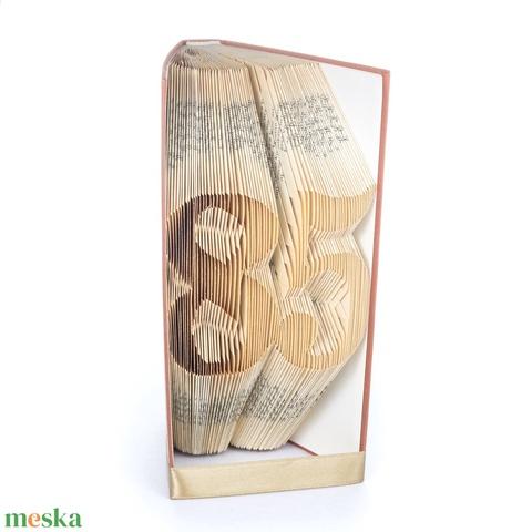 85 - Könyvszobor, könyv origami - 85. születésnapra (Wolfabric) - Meska.hu