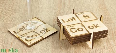 Let's Cook lézervágott fa poháralátét szett - Szakácsnak  - Sörnek - Bornak - Breaking Bad sorozat - Heisenberg - Meska.hu
