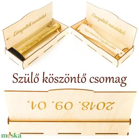 Esküvői szülőköszöntő csomag Anyának és Apának, Kalapács, Fakanál díszdobozban, Örömapának, Örömanyának - Meska.hu