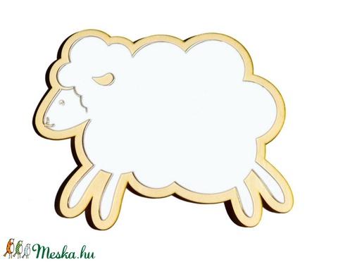 Bárány gyerekbarát tükör (woodartdecor) - Meska.hu