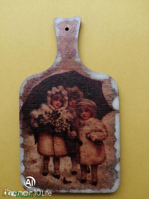 Vintage mintás vágódeszka formájú hűtőmágnes. (YoGaby) - Meska.hu