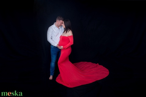 Piros kismama ruha uszállyal (Zebubaby) - Meska.hu