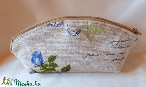 Romantikus kék rózsás neszesszer/tolltartó - Meska.hu