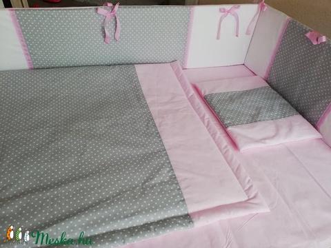ZOLICA MASNIS 3 részes pöttyös - fehér - rózsaszín babaszett - Meska.hu