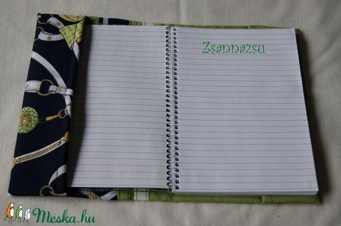 Textil füzetborító - Meska.hu