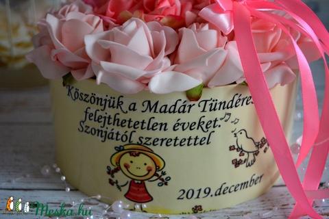 Köszönet virágbox - Meska.hu