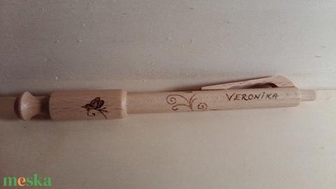 Személyre szóló, kézzel készült fa toll, egyedi grafikával, pirográffal gravírozva - Meska.hu