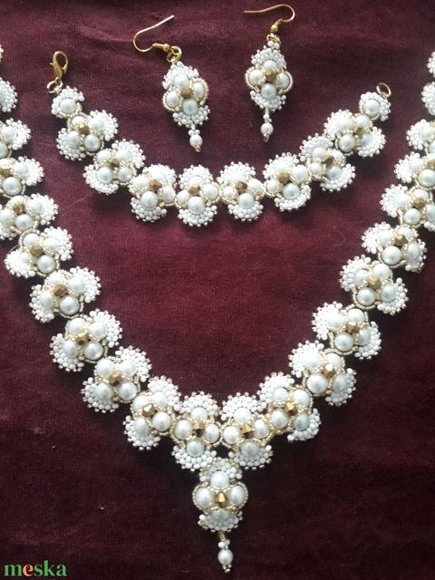 Panarea esküvői ékszer szett- ajándék, házasság, meglepetés, divatos, fiatalos, alkalmi - Meska.hu