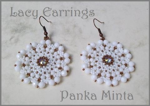 Lacy Earrings-minta (Pankaminta) - Meska.hu