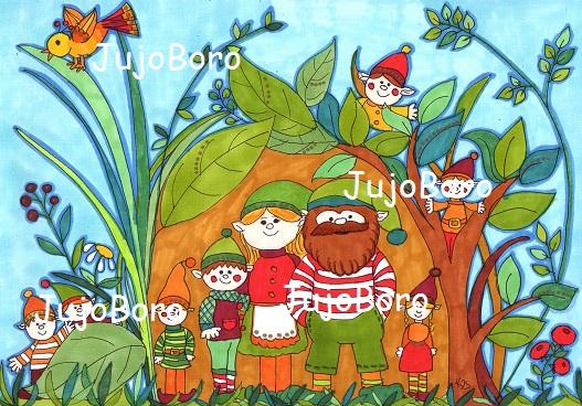 Manócsalád (JujoBoro) - Meska.hu