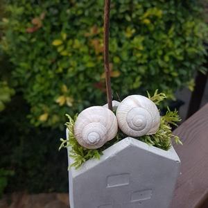 Boldogság van! - Házikó kaspó betonból  - Meska.hu