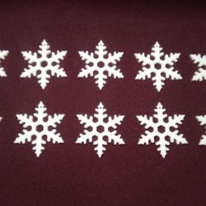 Hópehely karácsonyfadísz, Karácsony & Mikulás, Karácsonyfadísz, Mindenmás, 10 darab 3D nyomtatással készült hópehely formájú karácsonyfadísz.\nA hópehely mérete 5 cm.\nKétféle m..., Meska