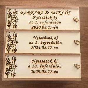 Nászajándék, évfordulós három részes díszdoboz (3Dfamuves) - Meska.hu