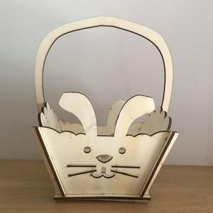 Nyuszis húsvéti kosár (3Dfamuves) - Meska.hu