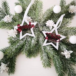 Karácsonyfadísz - csillag - egyedi névvel, Otthon & Lakás, Karácsony & Mikulás, Karácsonyfadísz, Gravírozás, pirográfia, Famegmunkálás, A csillag mindig különleges szerepet kap a karácsonyi készülődés során. Egyszerre jelképezi az eget ..., Meska