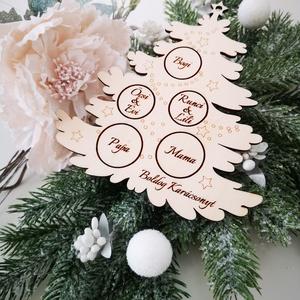 Karácsonyfadísz - Családfa, Otthon & Lakás, Karácsony & Mikulás, Karácsonyfadísz, Gravírozás, pirográfia, Famegmunkálás, A karácsony az az ünnep, amikor a család újra együtt van, akármilyen messzire is kerültünk egymástól..., Meska