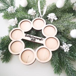 Karácsonyi kör képkeret - egyedi felirattal, Otthon & Lakás, Karácsony & Mikulás, Karácsonyfadísz, Gravírozás, pirográfia, Famegmunkálás, Apró pillanatok, amik örökre belopják magukat a szívünkbe. Ugye neked is eszedbe jutott most egy? Ez..., Meska