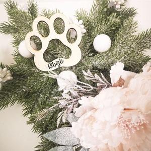 Karácsonyfadísz - Tappancs egyedi névvel, Karácsony & Mikulás, Karácsonyfadísz, Mi is hiszünk abban, hogy kisállataink négylábú családtagok. Miért ne adnhatnánk nekik is helyet a f..., Meska