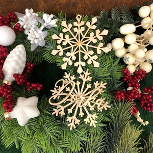 Karácsonyfadísz - Hópehely - Egyedi névvel (3Dfamuves) - Meska.hu
