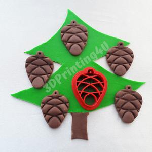 Toboz sütikiszúró süteménykiszúró keksz mézeskalács linzer süteményszaggató 3D nyomtatás fenyőtoboz kiszúró forma , Karácsony, Karácsonyfadísz, Kulinária (élelmiszer), Fotó, grafika, rajz, illusztráció, Mézeskalácssütés, Fenyőtobozra hajazó mintát ábrázoltunk ezen a szaggatón, amiből rendkívül dekoratív sütik készíthető..., Meska