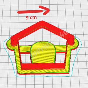 Kutya sütikiszúró szett 2db kutya és kutyaház süteményszaggató forma keksz mézeskalács 3D nyomtatás eb kiszúró forma (3DPrinting4U) - Meska.hu