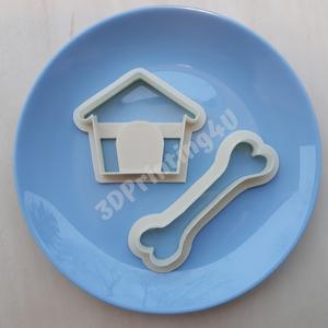 Kutya sütikiszúró szett 2d kutyacsont és kutyaház süteményszaggató forma keksz mézeskalács 3D nyomtatás eb kiszúró forma (3DPrinting4U) - Meska.hu