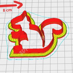Misi a Mókus sütikiszúró süteményszaggató mézeskalács keksz linzer süteménykiszúró 3D nyomtatás forma kiszúró (3DPrinting4U) - Meska.hu