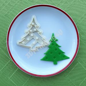 Karácsonyfa süteménykiszúró mézeskalács süteményszaggató 3D nyomtatás keksz kiszúró forma sütikiszúró karácsony dísz, Sütikiszúró, Konyhafelszerelés, Otthon & Lakás, Fotó, grafika, rajz, illusztráció, Mézeskalácssütés, Képzeld csak el, hogy az ünnepi asztalon milyen jól fognak mutatni a gömbökkel díszített karácsonyfa..., Meska