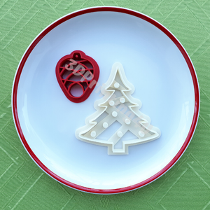Karácsony sütikiszúró szett 2 db süteménykiszúró linzer keksz mézeskalács 3D nyomtatás kiszúró karácsonyfa fenyőtoboz (3DPrinting4U) - Meska.hu