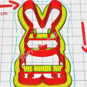 Bari Bárány és Tapsifüles Nyuszi sütikiszúró szett 2db süteménykiszúró mézeskalácsforma mézeskalács 3D nyomtatás húsvét - otthon & lakás - konyhafelszerelés - sütikiszúró - Meska.hu