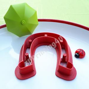 Szerencsehozó patkó süteménykiszúró sütikiszúró linzer mézeskalács szerencse ló lópatkó kiszúró forma 3D nyomtatás újév (3DPrinting4U) - Meska.hu