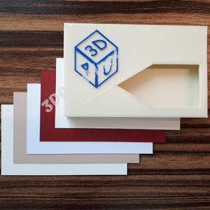 Névjegykártyatartó egyedi igényre szabható saját logós 3D nyomtatott 3D nyomtatás logó névjegy kártyatartó, Kártyatartó & Irattartó, Pénztárca & Más tok, Táska & Tok, Fotó, grafika, rajz, illusztráció, Ilyen névjegykártyatartója garantáltan nem lesz másnak, csak neked! Miért? Mert a tetején saját logó..., Meska