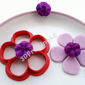5 szirmú virág süteménykiszúró sütikiszúró linzer mézeskalács kiszúró forma 3D nyomtatás szirom virágszál növény (3DPrinting4U) - Meska.hu