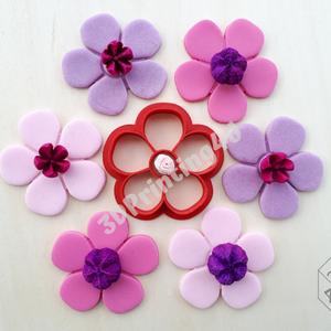 5 szirmú virág süteménykiszúró sütikiszúró linzer mézeskalács kiszúró forma 3D nyomtatás szirom virágszál növény, Sütikiszúró, Konyhafelszerelés, Otthon & Lakás, Fotó, grafika, rajz, illusztráció, Mézeskalácssütés, Ezzel az 5 szirmú virággal egy egész virágos kertet varázsolhatsz a konyhaasztalra. Ne csak a kert l..., Meska