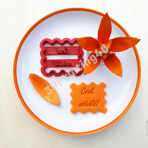 """Csak csináld! feliratú kekszkiszúró süteménykiszúró felirat linzer 3D nyomtatás kiszúró sütikiszúró marcipánbenyomó, Sütikiszúró, Konyhafelszerelés, Otthon & Lakás, Mézeskalácssütés, Fotó, grafika, rajz, illusztráció, Ez a """"Csak csináld!"""" feliratú kekszkiszúró nagyon dekoratív díszítő elem tud lenni például egy torta..., Meska"""