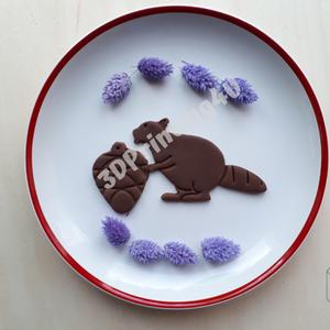 Hódító Hód és fenyőtoboz 2db szett sütikiszúró keksz mézeskalács linzer süteménykiszúró süteményszaggató 3D nyomtatás - otthon & lakás - konyhafelszerelés - sütikiszúró - Meska.hu
