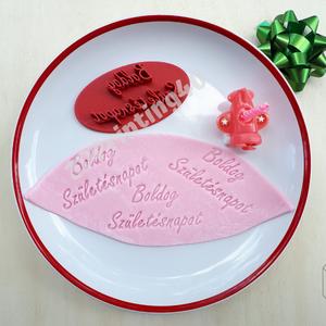 Boldog Születésnapot sütibenyomó keksz linzer benyomó 3D nyomtatás torta tortadísz ajándék, Sütikiszúró, Konyhafelszerelés, Otthon & Lakás, Mézeskalácssütés, Fotó, grafika, rajz, illusztráció, A Boldog Születésnapot süteibenyomó kiválóan használható szülinapi torták díszítéséhez, a hagyományo..., Meska