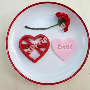 Szív szeretlek felírattal sütikiszúró keksz kiszúró mézeskalácsforma linzer szaggató 3D nyomtatás Valentín nap ajándék (3DPrinting4U) - Meska.hu