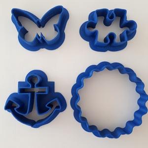 Lepke vasmacska puzzle süteménykiszúró szett kiszúró forma süteményforma mézeskalácskiszúró linzer hullámos sütikiszúró , Sütidísz, Konyhafelszerelés, Otthon & Lakás, Fotó, grafika, rajz, illusztráció, Mézeskalácssütés, Sütikiszúró szett 4 db, melyben egy lepke, vasmacska és puzzle forma, valamint egy hullámos szélű ki..., Meska