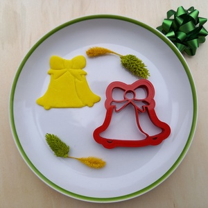 Két harang sütikiszúró mézeskalács linzer süteménykiszúró keksz 3D nyomtatás karácsony kiszúró forma, Élelmiszer, Édesség, Fotó, grafika, rajz, illusztráció, Mézeskalácssütés, Képzeld csak el, hogy az ünnepi asztalon milyen jól fognak mutatni a harang alakú sütemények. Ne csa..., Meska