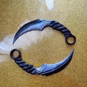 Mazikeen kés - Lucifer, Otthon & Lakás, Dekoráció, Dísztárgy, Mindenmás, Mazikeen kései, amit a Lucifer sorozatban használt.\nA listázás egy pár /azaz két db/ pengét tartalma..., Meska