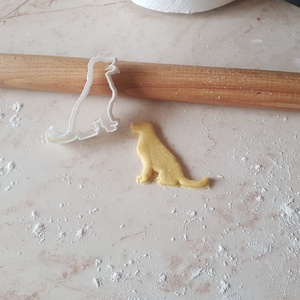 Kutya logo Golden retriever Süteménykiszúró Keksz Szaggató Forma, Karácsony, Karácsonyi dekoráció, Élelmiszer előállítás, Gyurma, Dobd fel a közelgő Ünnepeket/Szülinapokat 3d nyomtatott süti szaggatókkal\n\nElengedhetetlen süti szag..., Meska